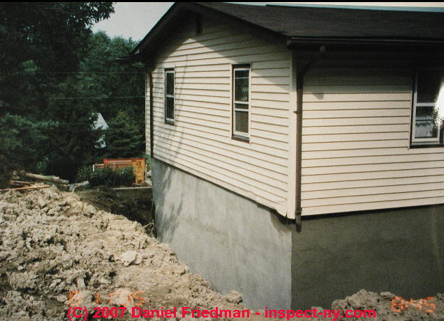 Types of cracks damage in block foundation walls for Block basement