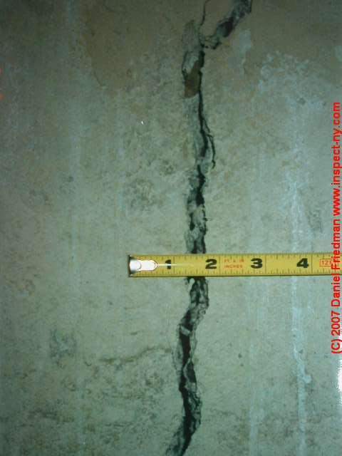 concrete foundation crack types cold pour joints