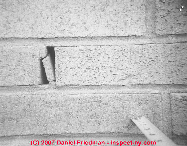 Thermal Expansion Cracks in Brick Walls & Foundations