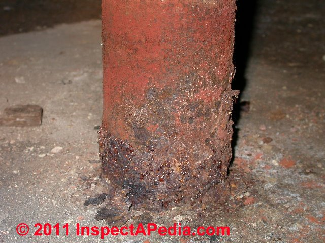 Rust Damaged Steel Columns & Posts