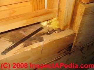 Leaks at the window of a log home