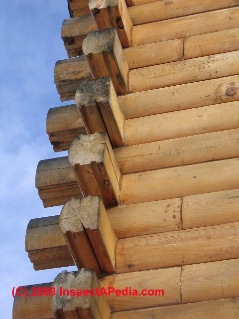 Framing sheathing materials a photo guide to types for Log cabin construction methods