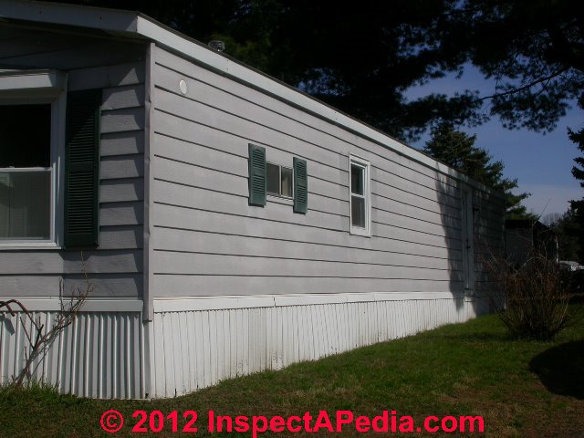 Mobile Home Exterior Siding Windows Doors Inspection