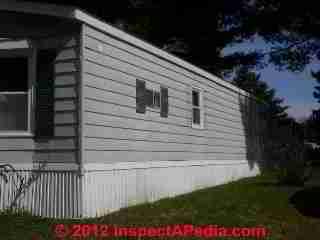 Mobile Home Exterior Siding Windows Doors Inspection
