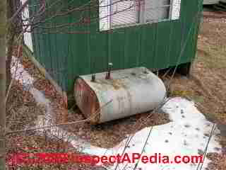 Mobile home oil tank (C) Daniel Friedman