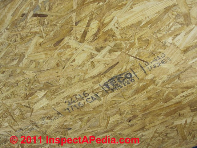 Osb oriented strand board sheathing definition properties for Exterior wall sheathing types
