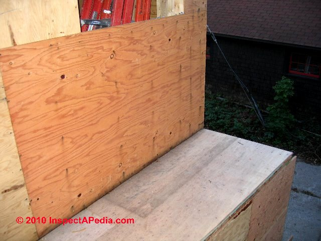 Plywood products used in home construction floor wall for Plywood wall sheathing