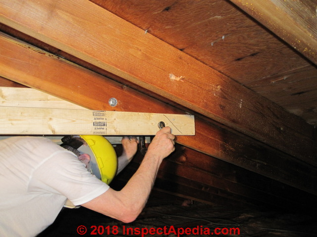 Sagging Roof Rafter Repair Site Built Rafter Spreader