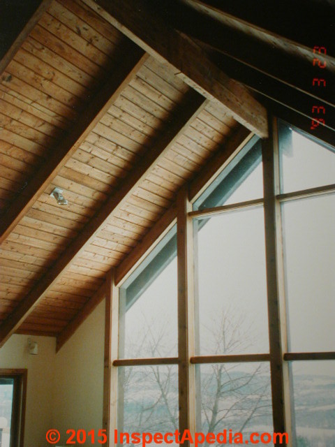 Ridge beam structure below a cathedral ceiling (C) Daniel Friedman & Roof Framing: definition of Collar Ties Rafter Ties Structural ... memphite.com