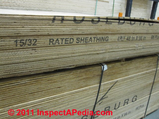 Plywood floor sheathing thickness gurus floor for Roof sheathing material