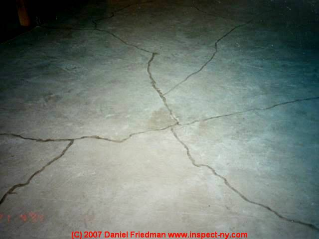 Photograph Of A Cracked Concrete Slab, Significant Shrinkage