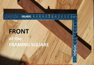 Framing Square Instruction Guide Layouts Measurements