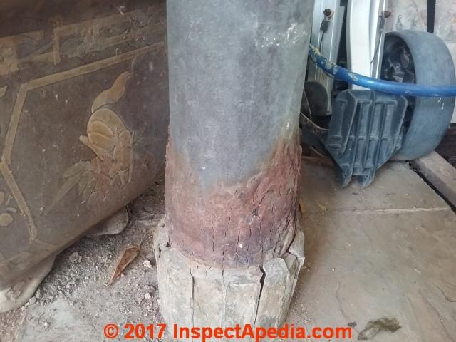 Rust Damaged Steel Columns Amp Posts