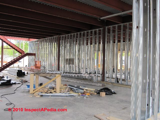 Interior Steel Framed Buildings : Metal stud wall thermal performance conduction data