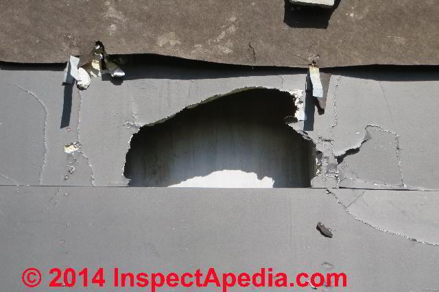 Gypsum Board Exterior Wall Sheathing Under Demolition (C) Daniel Friedman  ...