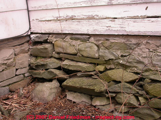 stone foundations walls how to recognize diagnose stone