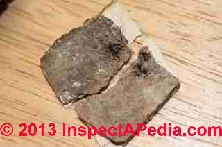 Wood rot from leakage in a London home (C) InspectApedia JG
