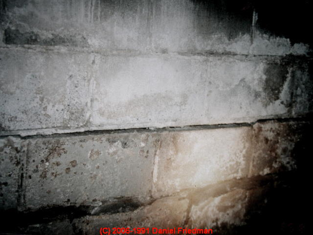 Types of cracks damage in block foundation walls for Block wall foundation