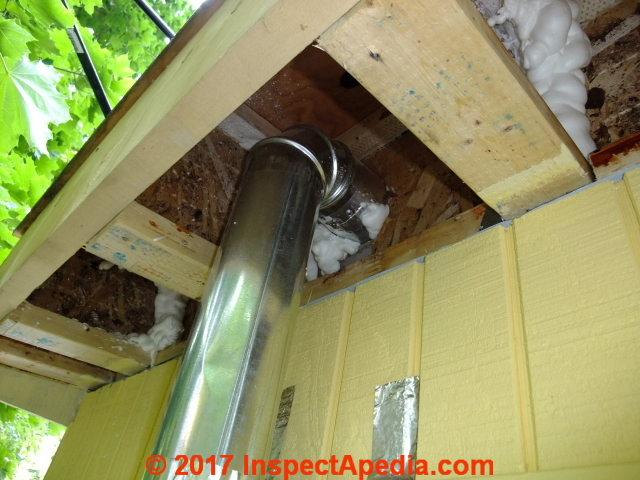 Duct Fan In An Enclosure : Bathroom vent fan duct down route cathedral ceiing to soffit