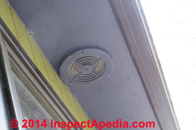 Solid Metl Exhaust Fan Duct Terminating In A Roof Soffit C Daniel Friedman Eric Bathroom