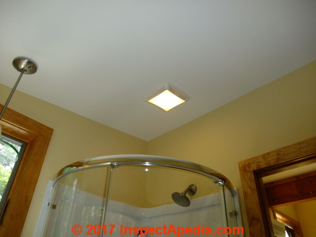 Exhaust Fan In Cathedral Ceiling Roof Over A Shower, Finished Installation  (C) Daniel