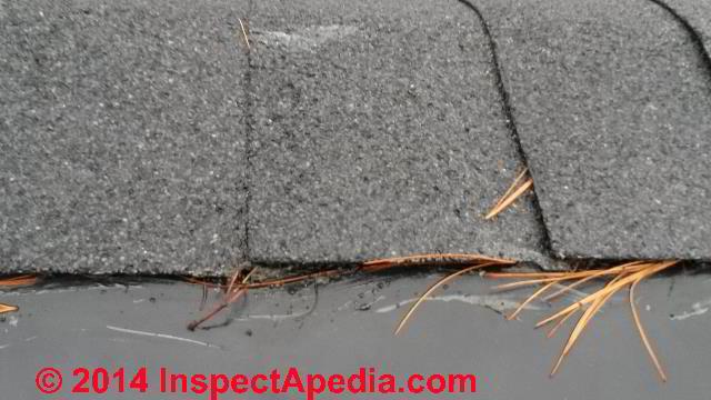 Hot Roof Design Leaks At Ridge Vent (C) InspectApedia TG