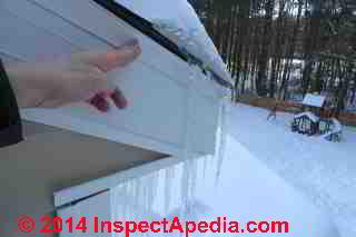 Roof ice dam diagnosis & repair procedure (C) Daniel Friedman