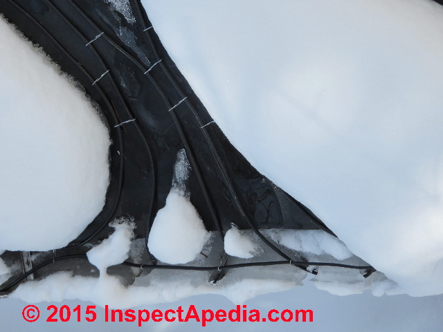 Low Volt Ice Melting Cable : How where to add heat protect against pipe freezing
