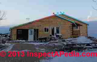 Roof extension blocks original soffit intake vents (C) InspectAPedia EZ