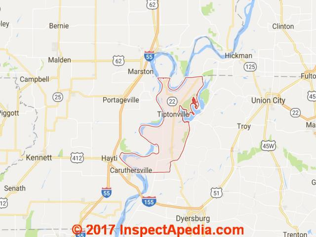 Reelfoot Lake Tennessee Map.Tennessee Sinkholes Subsidences Sinking Buildings