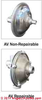 Brady air volume controls, repairable and non-repairable (C) InspectAPedia