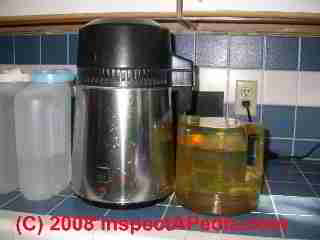 Home water distiller for emergency use if power is available (C) Daniel Friedman