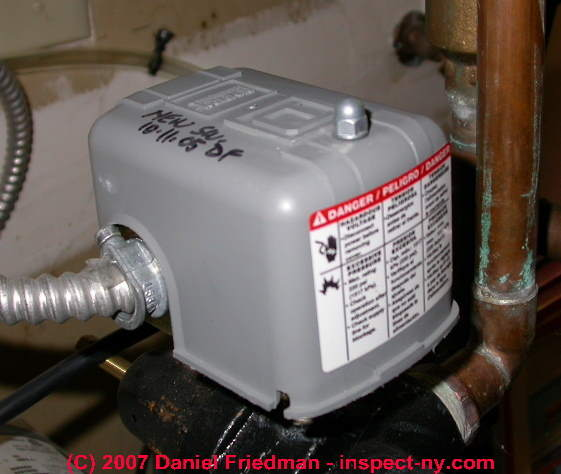 Pressure In Your Well Pump More Specifically The Switch Controls Water Pressures That Cause To Cut Turn On And Out Off