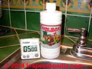 SinBac vegetable wash disinfectant (C) Daniel Friedman