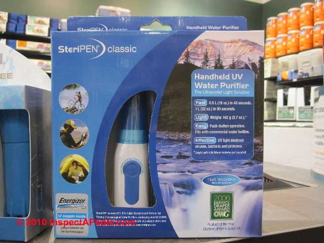Portable Uv Light Steripen To Treat Purify Or Sterilize Drinking Water