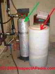 Photo of a home water softener system