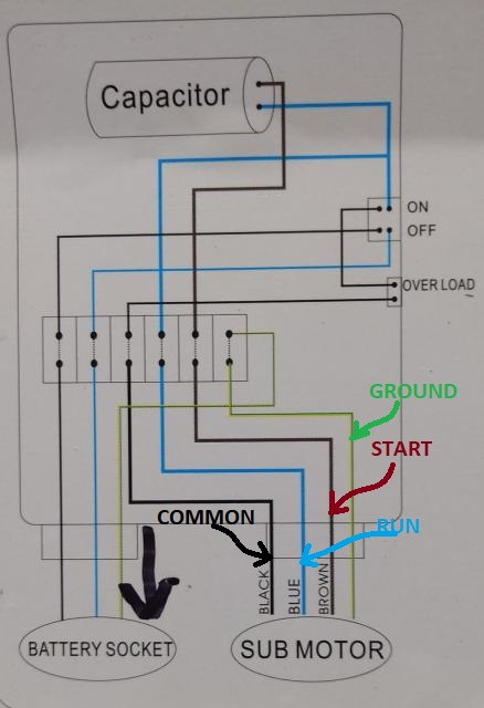 Water Pump Wiring Troubleshooting & Repair Pump Wiring Diagrams | Pump Motor Wiring Diagram |  | InspectAPedia.com